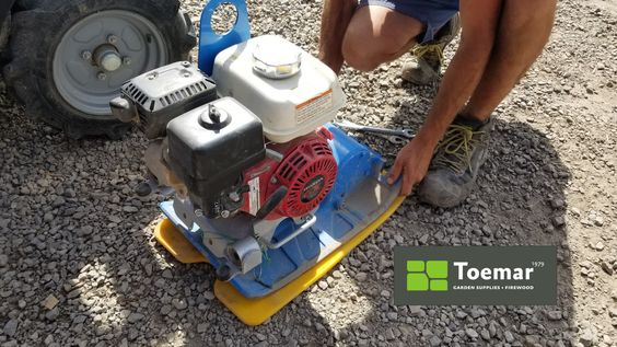When it comes to creating that nice stable base for your pavers, don't forget to pick up your Honda compactor from Toemar. It makes all the difference...
