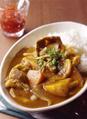 美味しそうな豚肉の和風カレー