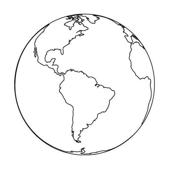 Line Drawing Earth : Earth outline clipped by salvsnena liked on polyvore