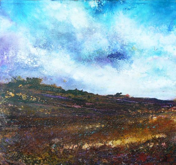 Up on the Moors - Mixed Media on Paper