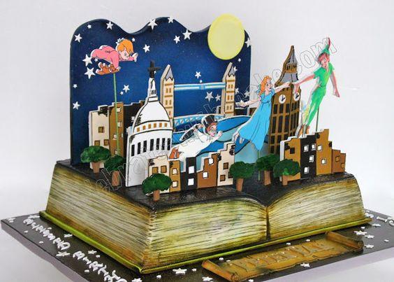 Peter Pan Pop Up Book Cake...is fairy dust the main ingredient? #ediblebooks