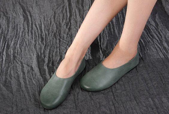 Handmade ShoesOxford Women Shoes Flat Shoes Retro by HerHis