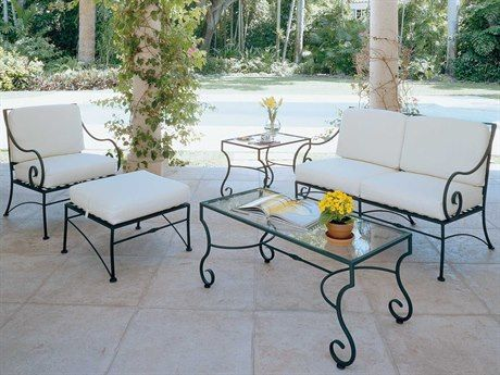 Download Wallpaper Wrought Iron Patio Furniture With Red Cushions
