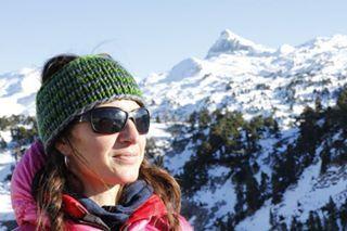 Calentita y guapa en la nieve
