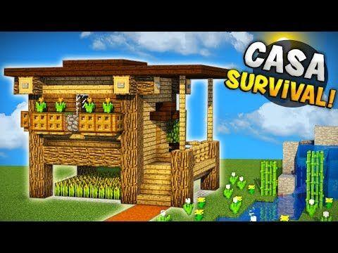 Minecraft Como Hacer Una Casa Hermosa Super Survival Facil De Hacer La Mejor Casa Para Tu Sur Minecraft Construction Minecraft Architecture Minecraft Designs