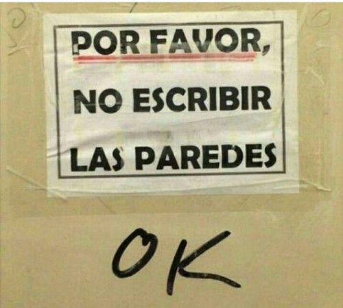 no escribir en las paredes