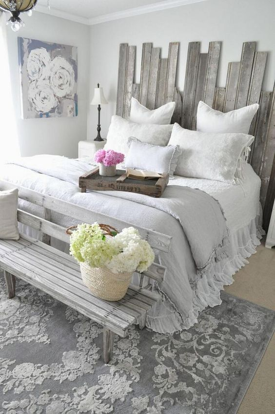 Vintage dresser decor via pinterest. Grey And White Bedroom Ideas Create Rooms Of High Class Decoholic In 2021 Rustic Shabby Chic Bedroom Rustic Master Bedroom Shabby Chic Decor Bedroom