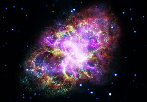 多波長螃蟹圖像信用:NASA,ESA,G. Dubner(IAFE,CONICET-布宜諾斯艾利斯大學)等。 A.Loll等人  T.Timim等人  Seward等人  VLA / NRAO / AUI / NSF;  錢德拉/ CXC;  斯皮策/ JPL-加州理工學院;  XMM-牛頓/ ESA;  哈勃/ STScI的