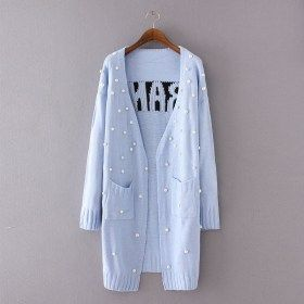 Letter Printed Knit Cardigan