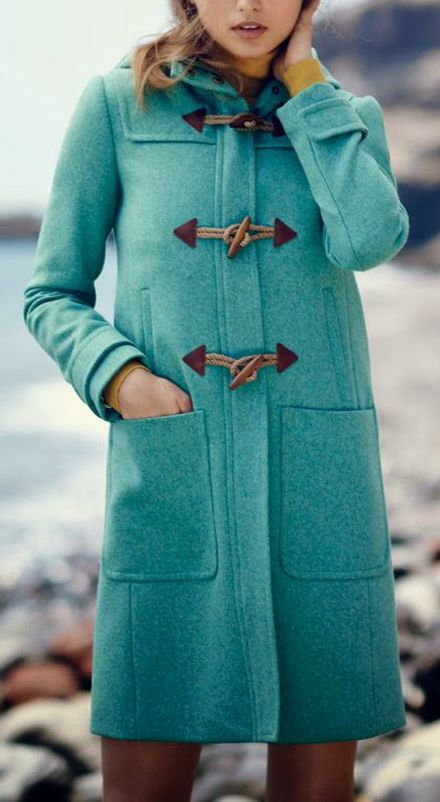 Teal winter coat: