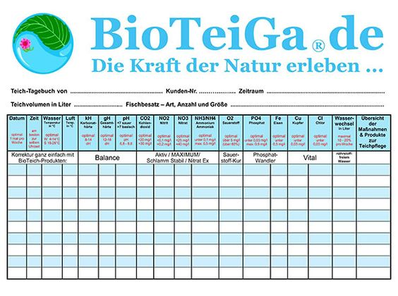 Das BioTeiGa-Teich-Tagebuch   BioTeiGa.de
