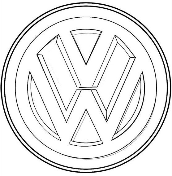Volkswagen Logo Coloring Sheet Vw Art Volkswagen Coloring Pages