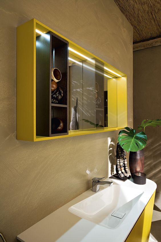 Bagno Suede con finitura legno tinto tabacco, legno tinto senape http://www.cerasa.it/it_IT/bagni/design/suede/arredobagno-bagni-suede-new-60