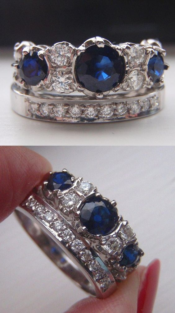 Sadly this set sold, but I really like this idea for an engagement ring/wedding band set.