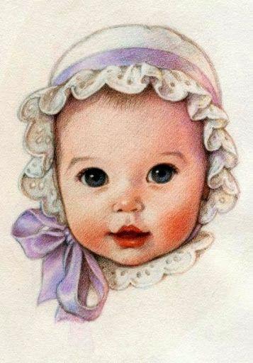 Reminds me of the adorable Bonet my grandma Bernie made Marisa. So cute.: