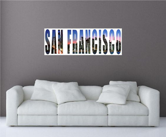 San Francisco City Skyline 2 Panoramic Wall by oOKimsKreationsOo Starting at $24.99!