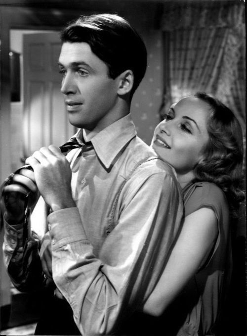 Carole Lombard with Jimmy Stewart in Made for Each Other (1939).
