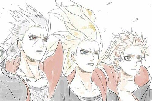 Itachi, Deidara, and Sasori