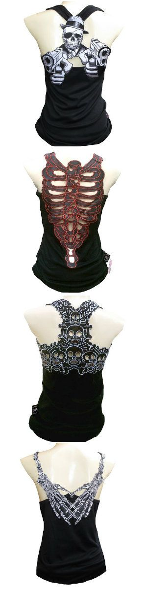 Shop sick skull tank tops, standard tops and clothes. Handcrafted with a sense…