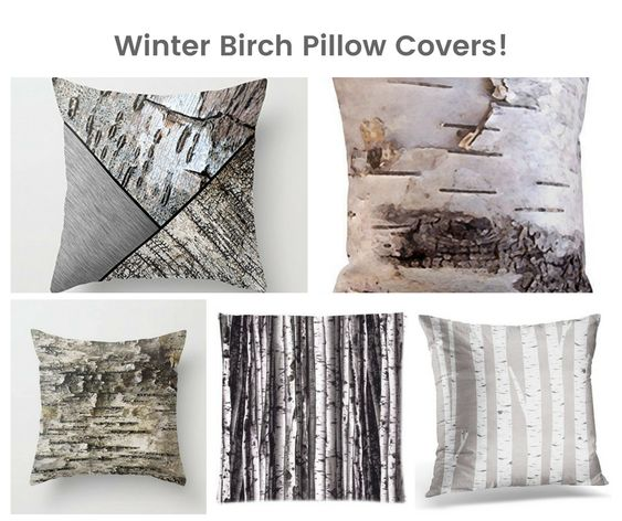 Winter Birch Pillow Covers