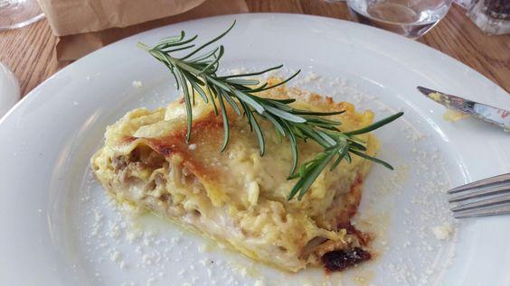 Weiße Lasagne mit Lammhack