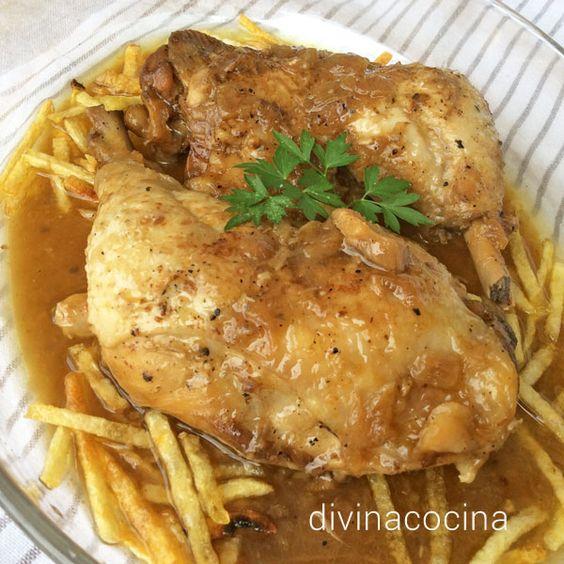 Estos muslos de pollo en salsa resuelven un almuerzo familiar sin muchas complicaciones, con ingredientes sencillos y ajustando al máximo las grasas.