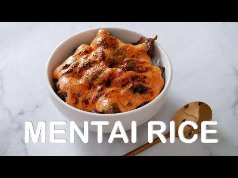 Pin Di Salmon Beef Crabstik Mentai Rice