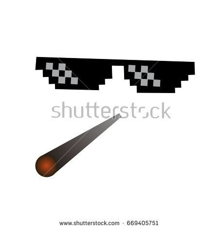 Glasses Pixel Vector Icon Pixel Art Glasses Of Thug Life Meme And Smoke Isolated On White Background Vector Vector Icons Art Anime Drawing Styles Pixel Art