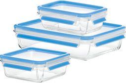 CLIP & CLOSE Glas Frischhaltedosen, 3er-Set
