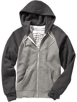 Men's Color-Block Zip-Front Hoodies | Old Navy - medium | Brian ...