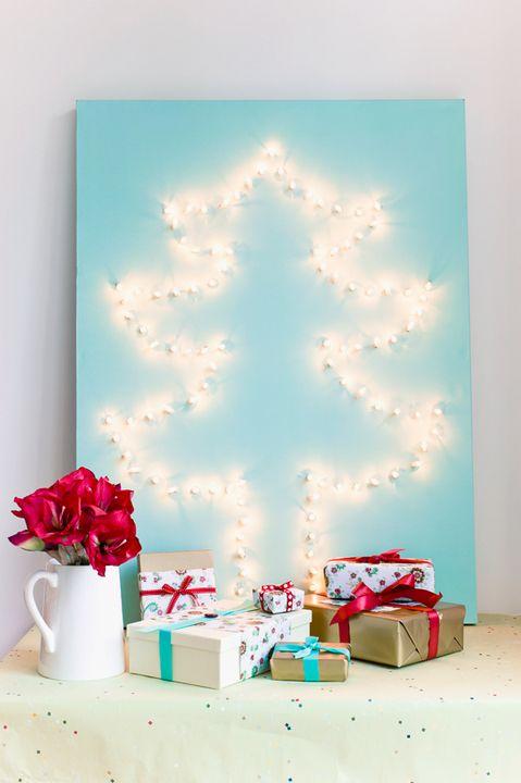 Light up Christmas canvas ideas - Ask Anna