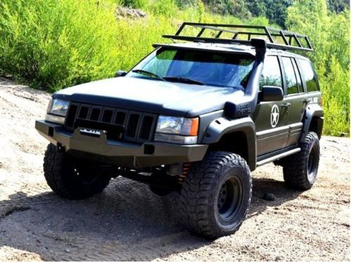 Jeep Grand Cherokee Zj 9398 Front Steel Bumper Winch Off Road