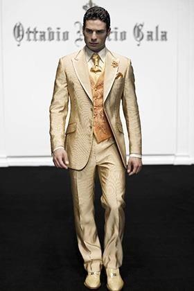 Золотой костюм мужской