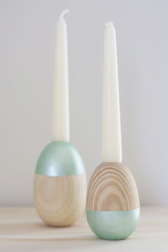 diy wooden egg candle holder great for easter spring is in the air pinterest homemade. Black Bedroom Furniture Sets. Home Design Ideas
