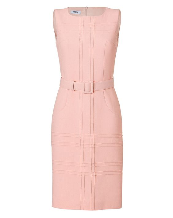 MOSCHINO CHEAP AND CHIC Wool Crepe Belted Sheath Dress  My style ...