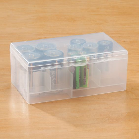 "The Multi Battery Storage Case keeps all of your batteries organized.  The case can hold 12 AAA, 12 AA, 6 C and 4 D batteries.  Here is what one of our employees Jen from our order processing center had to say about the product, ""I love to be organized so the Multi Battery Storage Case is a great item to organize all of your batteries."""