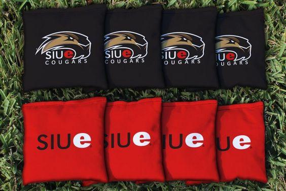 Southern Illinois Edwardsville Cougars Team Logo Cornhole Replacement Bag Set