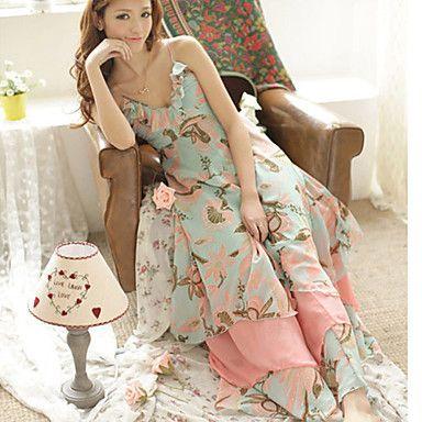 Casual vestido largo de las mujeres del verano V-cuello Condole – USD $ 38.49