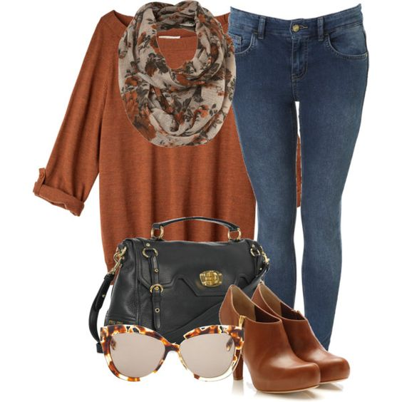 Fall Outfit color ladrillo