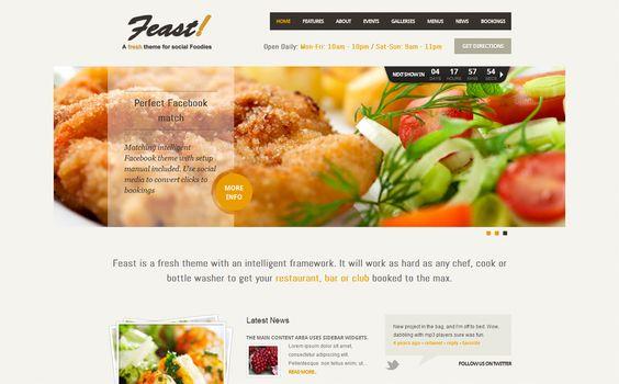 Feast: Facebook Fanpage & WordPress Theme ($45)