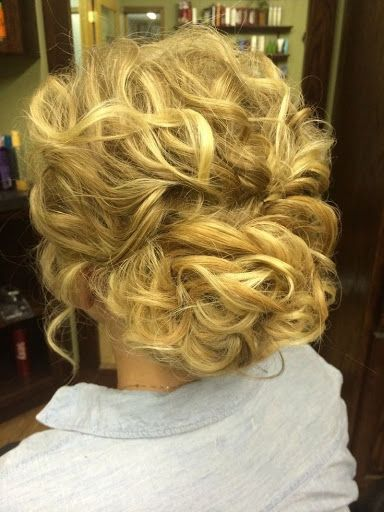 Curly Hair Updos for Bridesmaids | Messy Updo Hairstyles for Curly Hair / Pinterest?