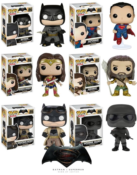 Batman V Superman Dawn of Justice Funko Pop collection