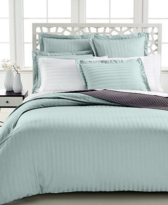 I Like This One. Charter Club Damask Stripe 500 Thread Count Duvet