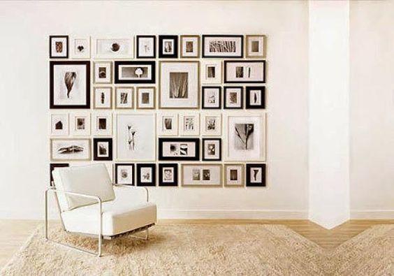 Cualquier pared puede llenarse de vida y recuerdos si usamos composiciones de fotos. Te damos las mejores ideas para estructurarlas.