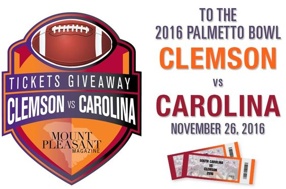 Enter to win tickets to the 2016 Clemson/Carolina game!