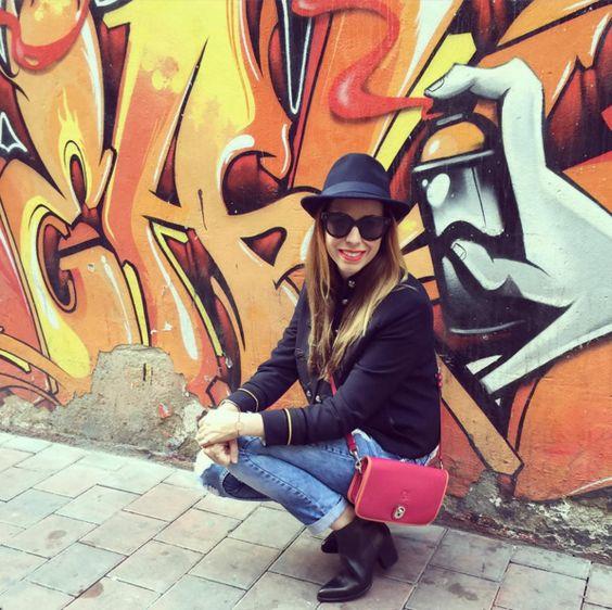 La instablogger @irinarules con botines negros de piel élysèss