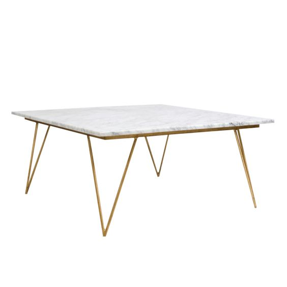 Worlds Away Marble Coffee Table Neal Gw Hairpin Leg Gold Leaf Coffee Table W White