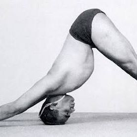Guruji B K S Iyengar In Adho Mukha Svanasana Welcoming The Year Of The Dog Happy Chinese New Year Iyengar Yoga Iyengar Yoga Poses