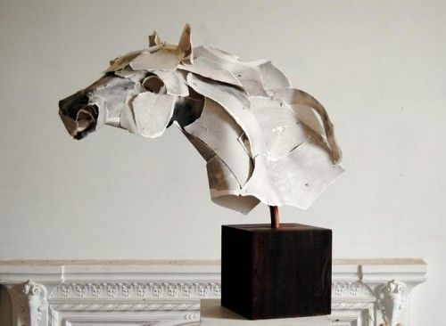 Torn Paper Sculptures by Anna-Wili Highfield