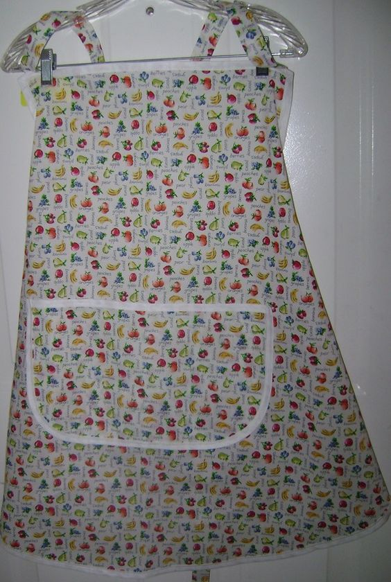Mixed Fruit on Bib Apron Extra Large 2066 by TheKraftyKats on Etsy (Accessories, Apron, bib apron, fruit apron, extra large apron, baking, handmade apron, cooking apron, women's apron, accessories, gift apron, full apron, apron with a pocket, Mother's Day apron, The Krafty Kats)